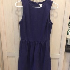 J Crew Dress Size Small, blue with side pockets